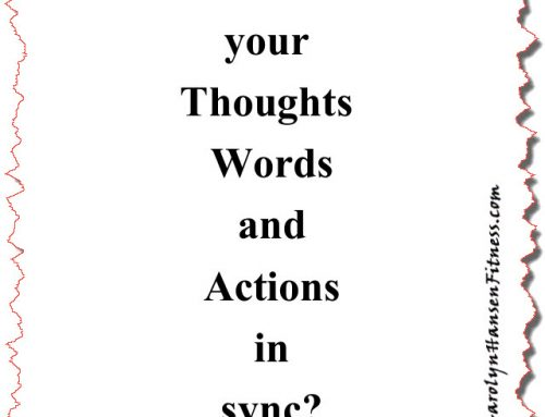 Are Your Thoughts Synchronized With Your Actions?