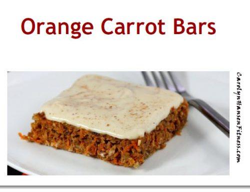 Enjoy These Sugar Free Orange Carrot Bars