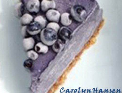 EnJOY this Healthy Blueberry Slice