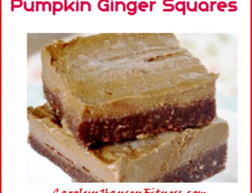 Tasty and Nutritious – Pumpkin Ginger Squares